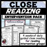 Distance Learning Reading Comprehension Intervention Bundle