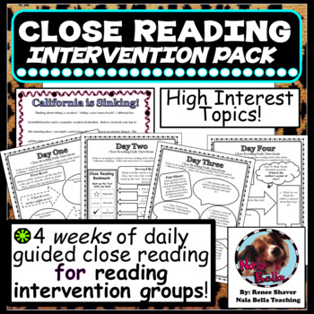 Close Reading Intervention Pack