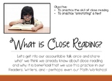 Close Reading Introduction  - PowerPoint Lessons - ReadyGen
