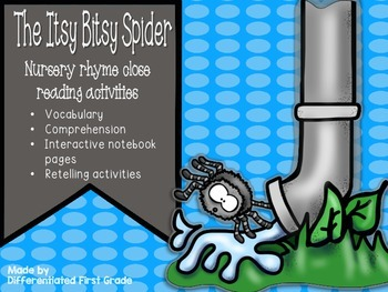 Close Reading - Itsy Bitsy Spider - Nursery Rhyme - Beginning Readers