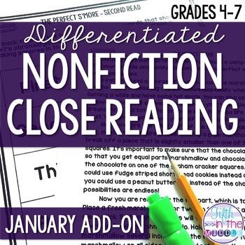 Close Reading  - January Lower Level ADD-ON