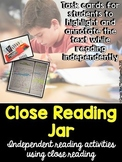 Close Reading Jar for Independent Reading (EDITABLE)