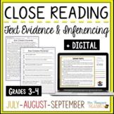 Reading Comprehension - July, August, September
