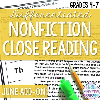 Close Reading  - June Lower Level ADD-ON
