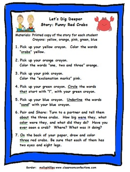 Kindergarten Close Reading: Let's Dig Deeper