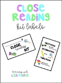 Close Reading Kit Labels