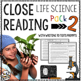 Life Science Reading Passages and Writing Prompts PACK 2