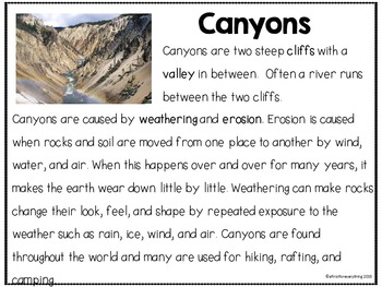 Close Reading Landforms