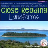 Close Reading Landforms