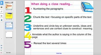 Close Reading Lesson