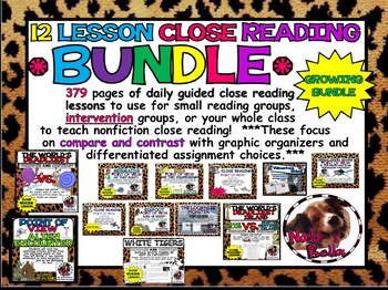Close Reading Lesson Bundle: Two Months of close reading