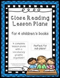 Close Reading Lesson Plans for Read Alouds