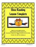 Close Reading Lesson Template