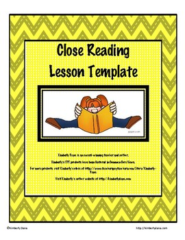 Close Reading Lesson Template