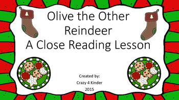 Close Reading Lesson for Olive the Other Reindeer