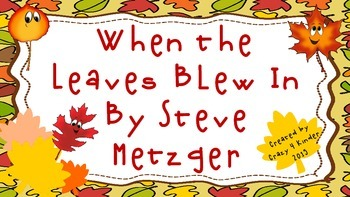 Close Reading Lesson for When the Leaf Blew In