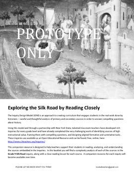 Close Reading Lessons Silk Road Inquiry