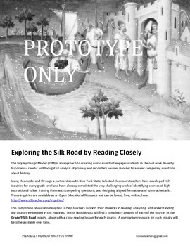 Close Reading Lessons Silk Road Inquiry