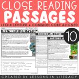Life Cycles Close Reading