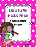Close Reading: Lilly's Purple Plastic Purse