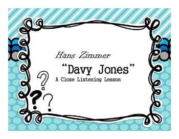 """Close Reading (Listening) Music Lesson with """"Davy Jones"""""""