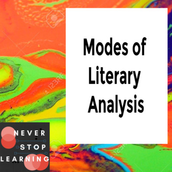Close Reading, Literary Analysis, Critical Literary Analysis Comparison Chart