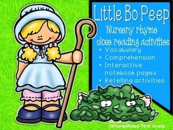 Close Reading - Little Bo Peep - Nursery Rhyme - Beginning