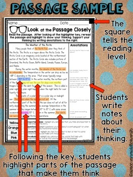 Close Reading- Look at the Passage Closely for January