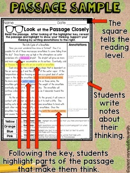 Close Reading- Look at the Passage Closely for March