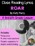 """Poetry They Will LOVE: """"Roar"""" by Katy Perry- Close Reading Using Lyrics"""