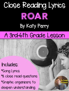 """Poetry They Will LOVE: """"Roar"""" by Katy Perry- Close Reading"""