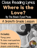 Poetry They Will LOVE: Close Reading- Where is the Love? by The Black-Eyed Peas
