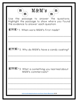 Close Reading: M&M's