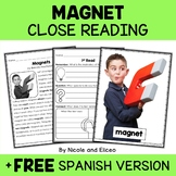 Close Reading Passage - Magnet Activities