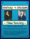 Close Reading: Marbury v. Madison Supreme Court Decision