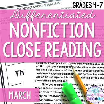 March Differentiated Nonfiction Close Reading Texts and Activities