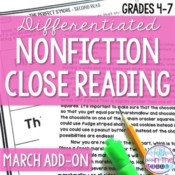Close Reading  - March Lower Level ADD-ON