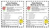 Close Reading (Marking up the Text) Anchor Charts