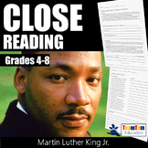 Close Reading Martin Luther King Jr