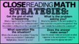 Close Reading Math Posters