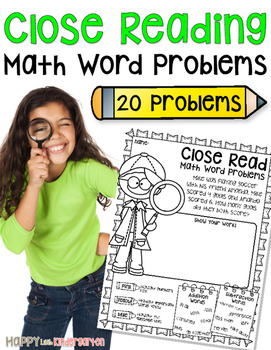 Close Reading Math Word Problems