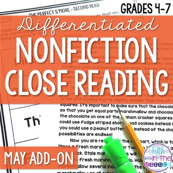 Close Reading  - May Lower Level ADD-ON