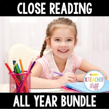 Kindergarten and First grade Close Reading Bundle