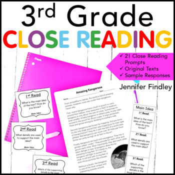 3rd Grade Close Reading Passages and Prompts