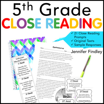 5th Grade Close Reading Passages and Prompts
