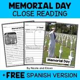 Close Reading Passage - Memorial Day Activities