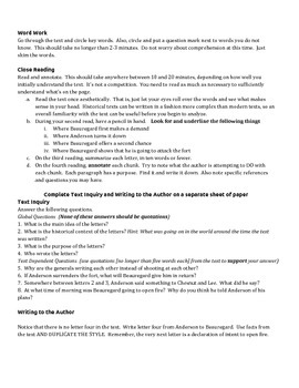 Close Reading - Military Correspondence at Ft. Sumter