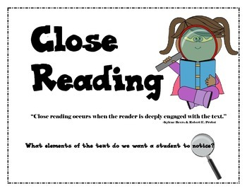 Close Reading Mini Packet