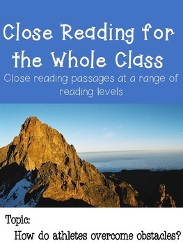 Close Reading Multi-Level Passages: Sports Heroes