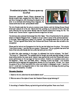 Close Reading Music Worksheets